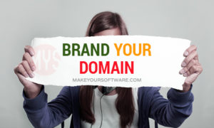brand your domain name